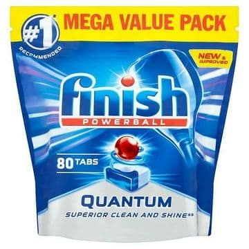 Finish Quantum Powerball Original Dishwasher Tablets Mega Value Pack of 80 Tabs